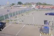 Záber z bezpečnostnej kamery pár sekúnd pred zrážkou.