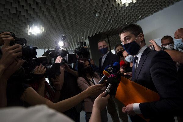 Primátor Malaciek Juraj Říha po rozhodnutí Najvyššieho súdu, ktorý zamietol návrh na jeho väzbu.