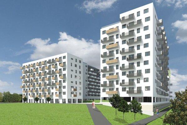 Vizualizácia projektu, ktorý má vyrásť namiesto budovy pošty v Dúbravke z roku 2017.