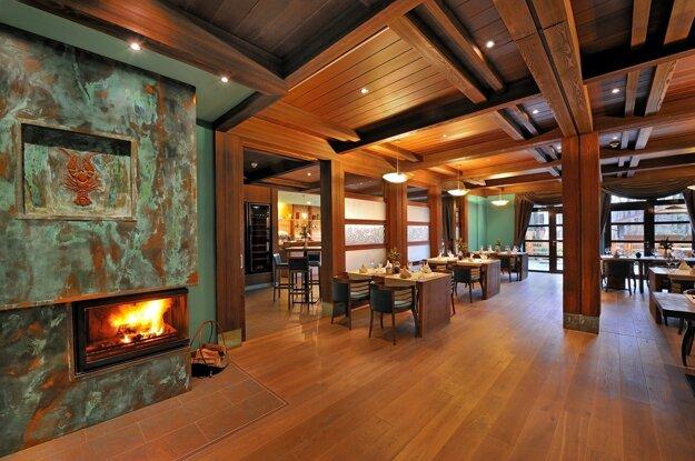 Interiér reštaurácie hotela