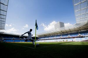 Ilustračná fotografia zo štadióna ŠK Slovan Bratislava.