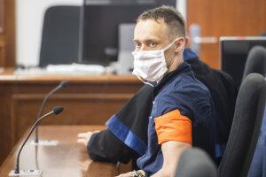 Peter Paľov počas pojednávania na Špecializovanom trestnom súde v kauze vraždy mestského poslanca a advokáta Mareka Rakovského.