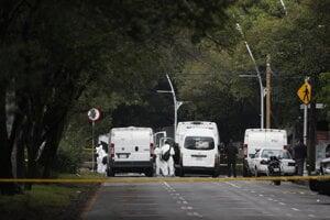 Miesto ozbrojeného útoku na šéfa polície v hlavnom meste Mexika.