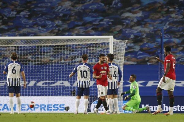 Manchester United nevzdáva boj o Ligu majstrov, pohodlne zdolal Brighton