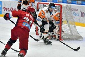 Už bez kapitána. Marek Kolba (v oranžovo - bielom) po troch rokoch opúšťa Michalovce.