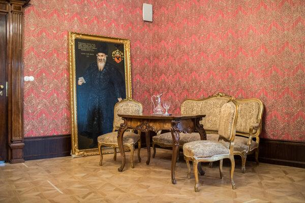 Interiér zámku v Pezinku.