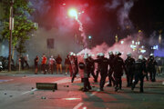 Nepokoje v Belehrade.