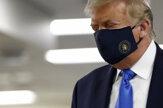 Trump sa prvýkrát ukázal na verejnosti s rúškom na tvári
