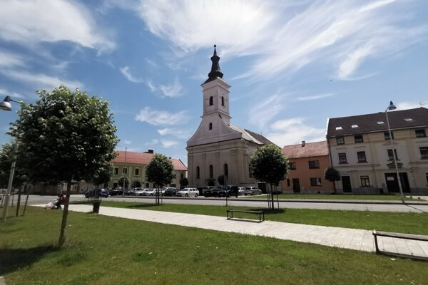 Centrum mesta Spišské Podhradie.
