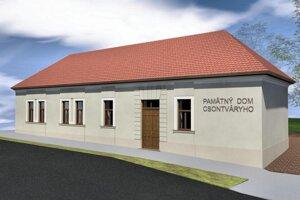 Vizualizácia pripravovaného projektu pamätného domu maliara Tivadara Kosztku Csontváryho.