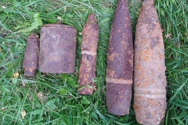 Dohromady bolo objavených sedem kusov munície.