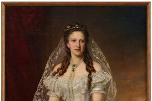 Grófka Leontína Andrássy, rodená von Wenckheim.