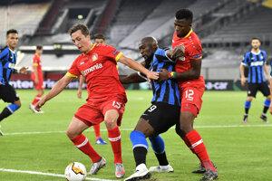 Romelu Lukaku (v strede) z Interu Miláno.
