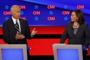 Pred rokom boli ešte súperi, teraz kandidujú Biden s Harrisovou spoločne.