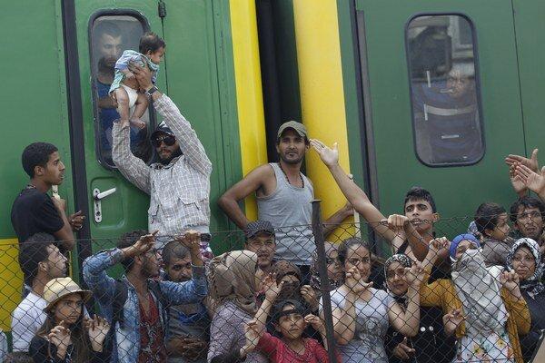 Migranti v Maďarsku.
