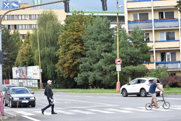 Križovatka je vyťaženým úsekom mesta