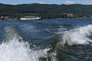 Pohľad z člna.