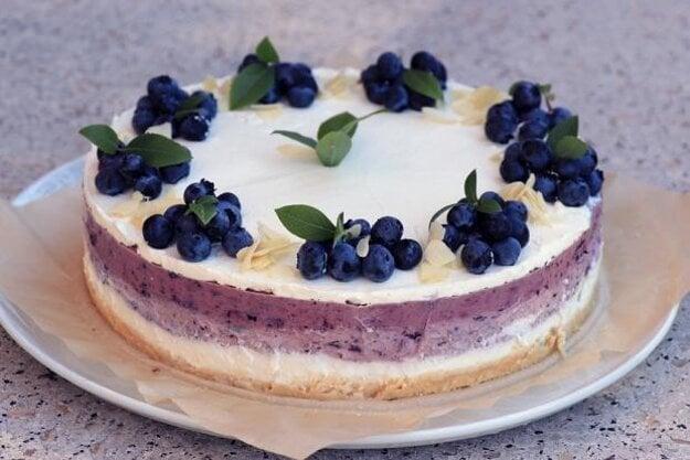 Nepečená čučoriedková tortas mascarpone