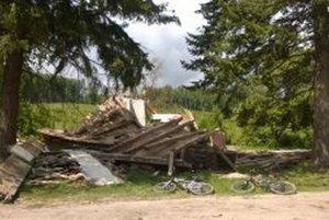 Sutiny horárne po zásahu Lesov SR - Odštepný závod Topoľčianky.