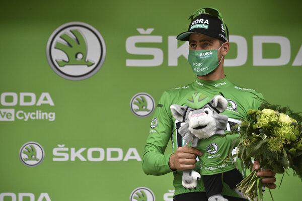Peter Sagan v zelenom drese na Tour de France 2020.