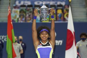 Naomi Osaková po triumfe na US Open 2020.