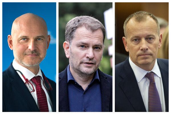 Branislav Gröhling, Igor Matovič, Boris Kollár.