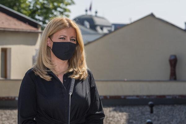 Na snímke prezidentka SR Zuzana Čaputová počas tlačovej konferencie k plánu uhlíkovo neutrálnej prezidentskej kancelárie v Bratislave 14. septembra 2020.