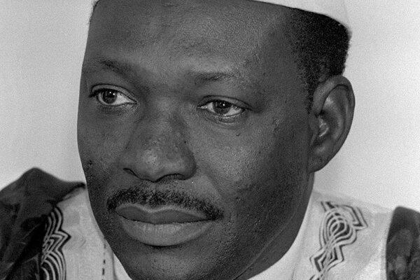 Moussa Traoré na snímke z roku 1984.