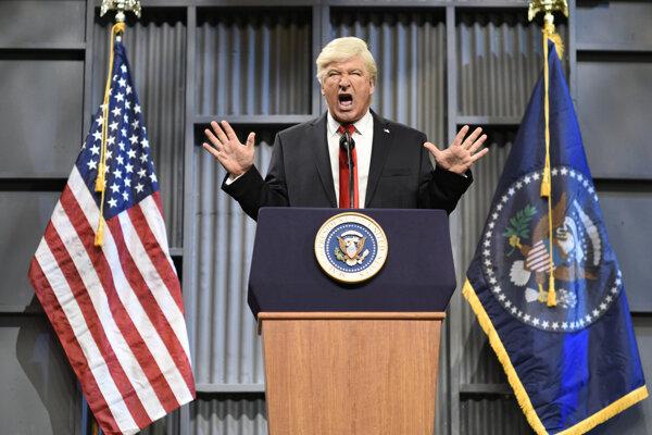 Alec Baldwin ako prezident Trump.