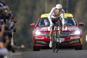 Tadej Pogačar v 20. etape na Tour de France 2020.
