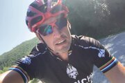 Milan Majerský ako cyklista.