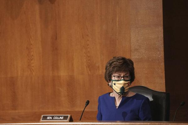 Senátorka Susan Collinsová už skôr povedala, že novú sudkyňu by mal vyberať nový prezident.