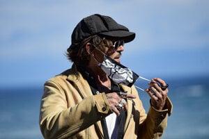 Johnny Depp na festivale v San Sebastiane.