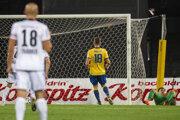 Momentka zo zápasu LASK Linz - DAC Dunajská Streda.