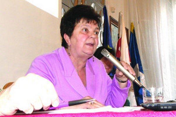 Primátorka Serafína Ostrihoňová.