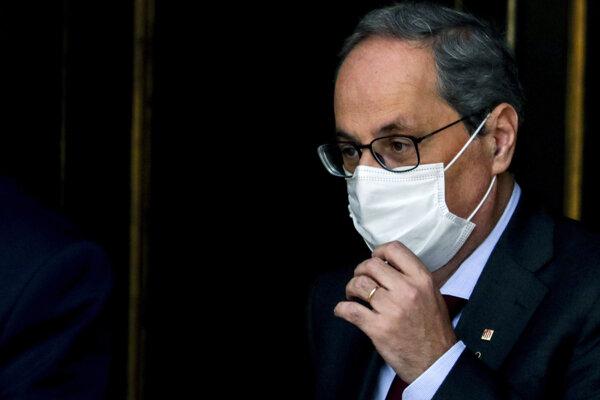 Katalánsky premiér Quim Torra.