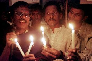 """Členovia nižšej kasty nazývanej """"Daliti""""."""
