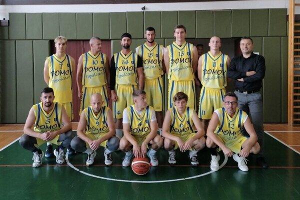 Topoľčianski basketalisti.