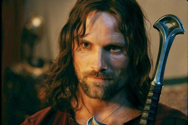 Aragorn. Jedna z najkrajších postáv Vigga Mortensena.