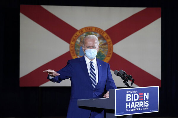 Joe Biden, prezidentský kandidát Demokratickej strany.