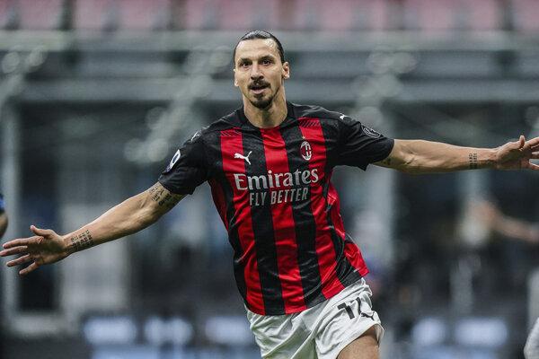 Zlatan Ibrahimovič strelil v mestskom derby dva góly do siete Interu Miláno.