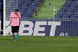 Lionel Messi počas zápasu na pôde Getafe.