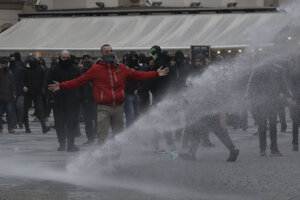 Protest proti opatreniam v Prahe.