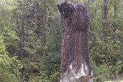 Čert je zhotovený z reťazí, ktoré v minulosti používali miestni furmani.