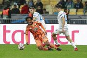 Momentka zo zápasu Dynamo Kyjev - Juventus Turín, Liga majstrov.
