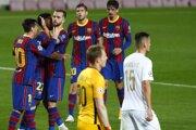 Momentka zo zápasu FC Barcelona - Ferencváros, Liga majstrov.