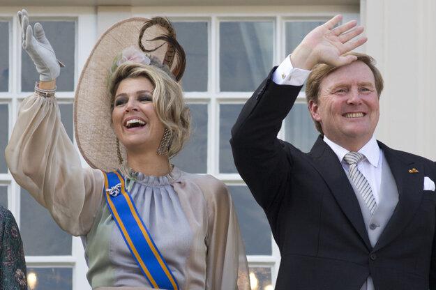 Na archívnej snímke z 18. septembra 2018 holandský kráľ Viliam Alexander a kráľovná Maxima.
