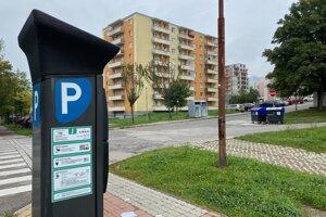Parkovací automat na sídlisku Juh.
