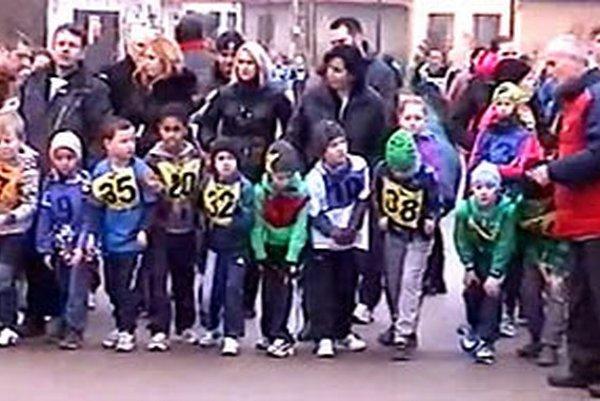 Na pretekoch štartovalo aj veľa detí.