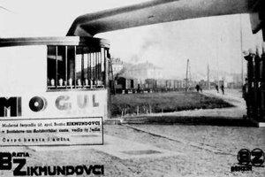 Dobová reklama s čerpacou stanicou BZ na Račianskej